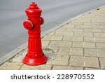 Red Fire Hydrant On City...