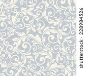 seamless victorian pattern on... | Shutterstock .eps vector #228984526