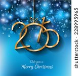 2015 christmas greeting card... | Shutterstock .eps vector #228995965