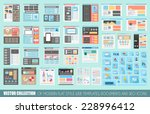 mega collection of flat style... | Shutterstock .eps vector #228996412