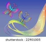 transparent butterfly | Shutterstock . vector #22901005