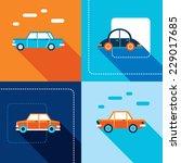 stylish car icon set. modern... | Shutterstock .eps vector #229017685