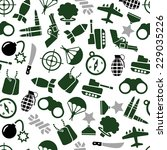 military seamless pattern | Shutterstock .eps vector #229035226
