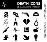 death icons | Shutterstock .eps vector #229035232