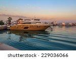 splendid view of yachts... | Shutterstock . vector #229036066