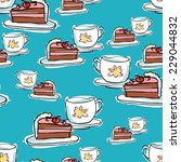pattern with cake | Shutterstock .eps vector #229044832