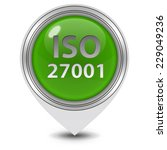 iso 27001 pointer icon on white ...   Shutterstock . vector #229049236