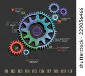 gear infographics | Shutterstock .eps vector #229056466
