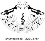 abstract music background with... | Shutterstock .eps vector #22905754