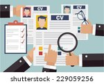 job interview concept with...   Shutterstock .eps vector #229059256