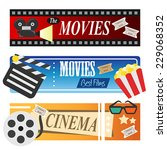 a vector illustration of movie... | Shutterstock .eps vector #229068352