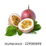 passion fruit isolated on white ... | Shutterstock . vector #229080898