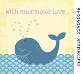 Funny Happy Whale Illustration...