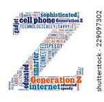 generation z in word collage   Shutterstock . vector #229097302