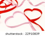two hearts from red and pink... | Shutterstock . vector #22910839