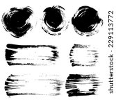 brush stroke elements set | Shutterstock .eps vector #229113772