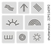 set of monochrome icons with... | Shutterstock .eps vector #229116592