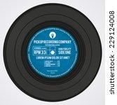 vinyl record | Shutterstock .eps vector #229124008