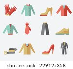 Clothing Icons  Flat Design ...