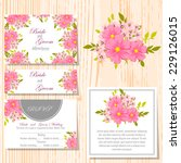 wedding invitation cards with... | Shutterstock .eps vector #229126015