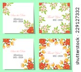 wedding invitation cards with... | Shutterstock .eps vector #229127332