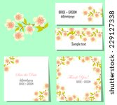 wedding invitation cards with... | Shutterstock .eps vector #229127338