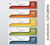 design clean number banners... | Shutterstock .eps vector #229128046