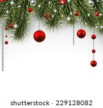 winter background with spruce... | Shutterstock .eps vector #229128082