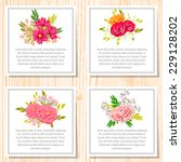 wedding invitation cards with... | Shutterstock .eps vector #229128202