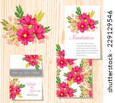 wedding invitation cards with...   Shutterstock .eps vector #229129546