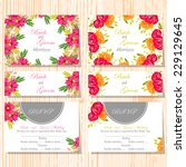 wedding invitation cards with... | Shutterstock .eps vector #229129645
