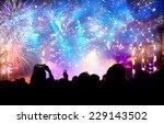 Fireworks And Crowd Celebratin...