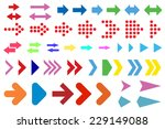 set of arrows on a white... | Shutterstock . vector #229149088