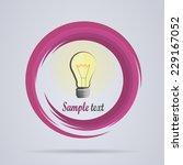 bulbs idea logo. vector image   Shutterstock .eps vector #229167052