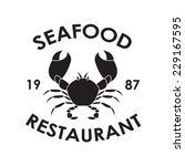 seafood restaurant label or... | Shutterstock .eps vector #229167595