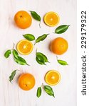 Постер, плакат: Oranges fruits composition with