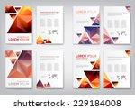 set of modern abstract brochure ...   Shutterstock .eps vector #229184008