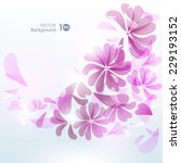 decorative floral background.... | Shutterstock .eps vector #229193152