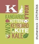 letter k words typography... | Shutterstock .eps vector #229196566