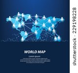 world map vector illustration | Shutterstock .eps vector #229198228