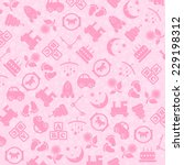 baby toys background texture | Shutterstock .eps vector #229198312