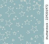 hand drawn stars seamless... | Shutterstock .eps vector #229201972