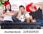 young fans fell asleep while... | Shutterstock . vector #229203925