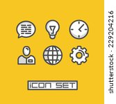 icons set business office....