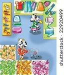 little dog goes shopping   Shutterstock . vector #22920499
