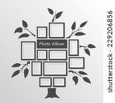 tree with frames on the wall.... | Shutterstock .eps vector #229206856