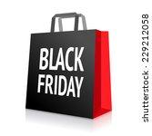 black friday shopping bag | Shutterstock .eps vector #229212058