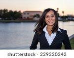 Female Business Woman Head Sho...
