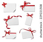 collection of various note card ... | Shutterstock . vector #229221508