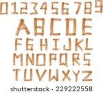 illustration of wood alphabet a ... | Shutterstock .eps vector #229222558